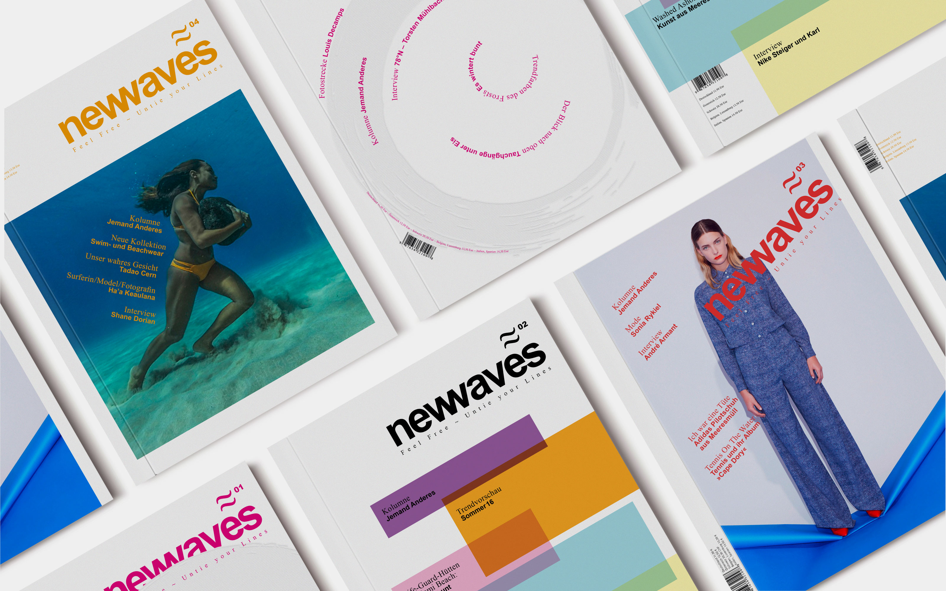 Editorial Design, newwaves, Magazin