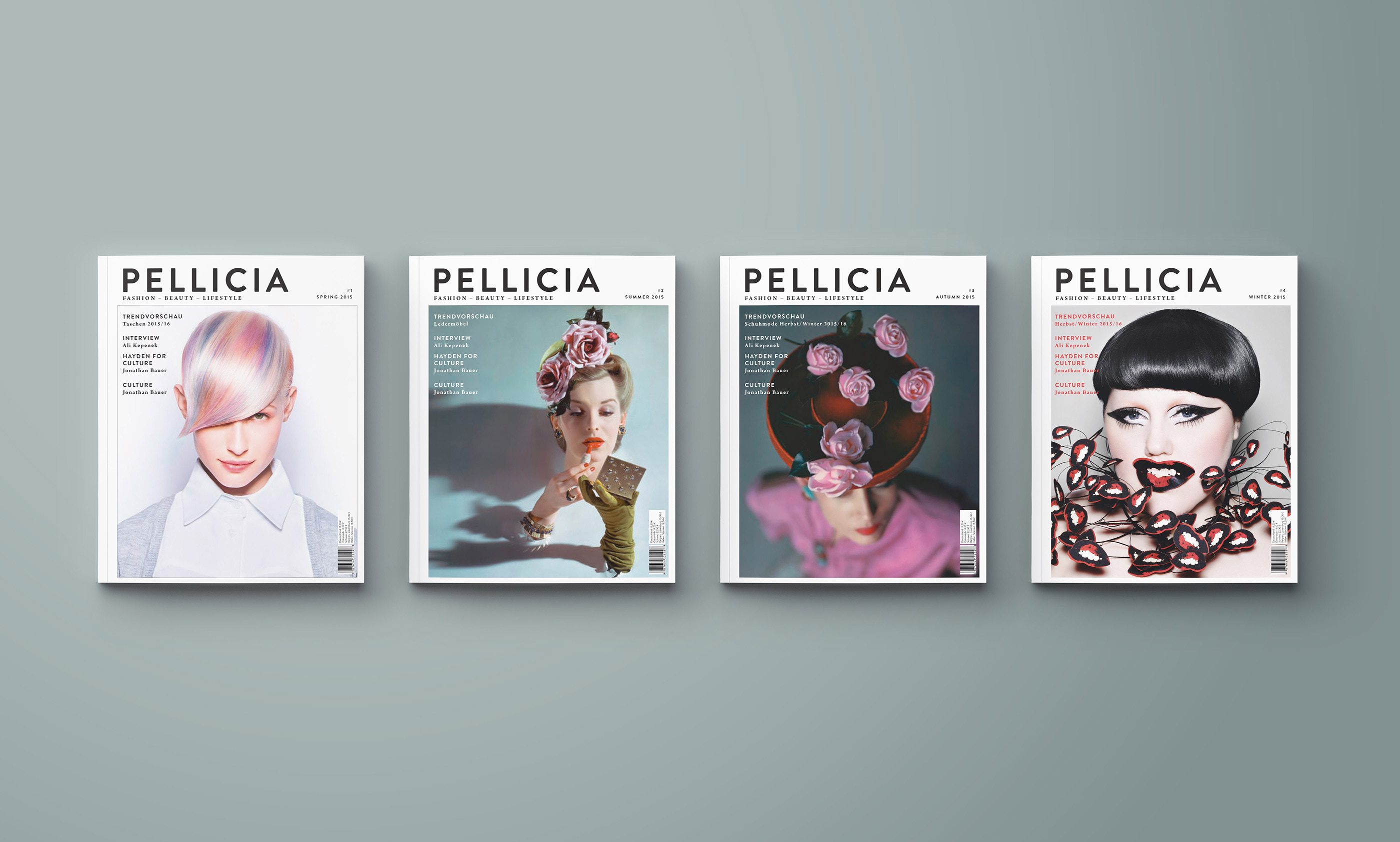 Editorial Design, PELLICIA, Magazin, Studienarbeit